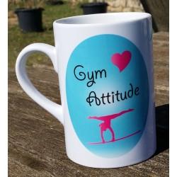 Mug love gym barre turquoise