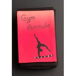 Pochette téléphone portable GAF rouge + strass