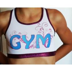 Short + Brassière Blanche Gym