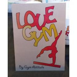 Plaque Alu love Gym RV