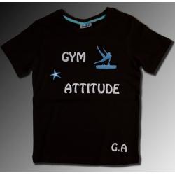 Tshirt noir gym attitude + arçon
