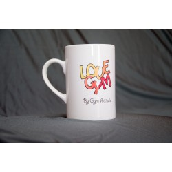 Mug love gym + poutre rouge
