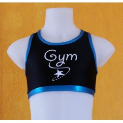 Brassière noir et bleu gym