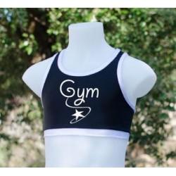 Brassière noir et blanc Gym