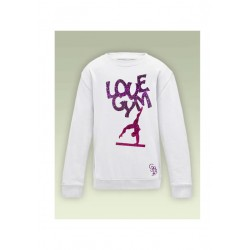 SWEAT LOVE GYM PAILLETE PERSONNALISE