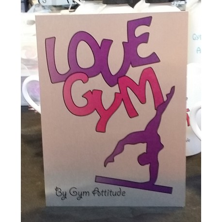 Plaque Alu love Gym RV