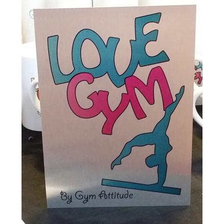 Plaque Alu love Gym BR
