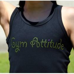 Débardeur noir strass Gym Attitude