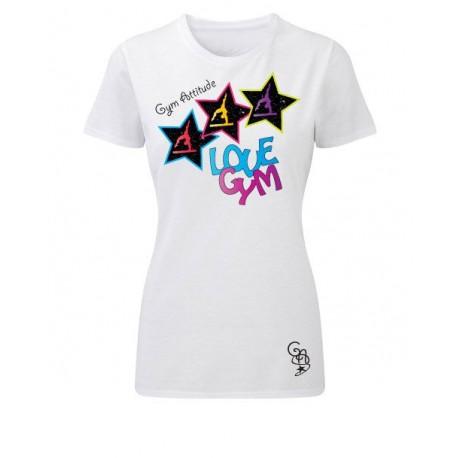 tshirt cintré blanc Love Gym