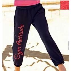 Pantalon Noir et Rouge pailleté