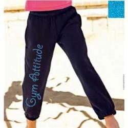 Pantalon Noir et turquoise pailleté