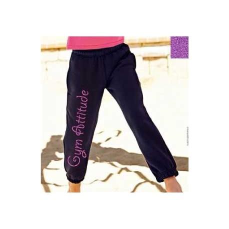 Pantalon Noir et violet pailleté