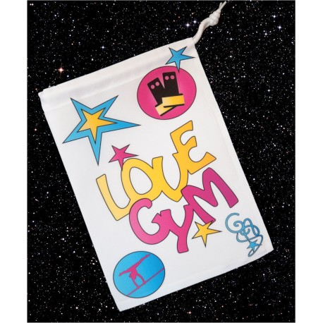 Sac à manique Love Gym rose